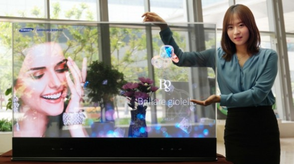 see through video screens transparent display