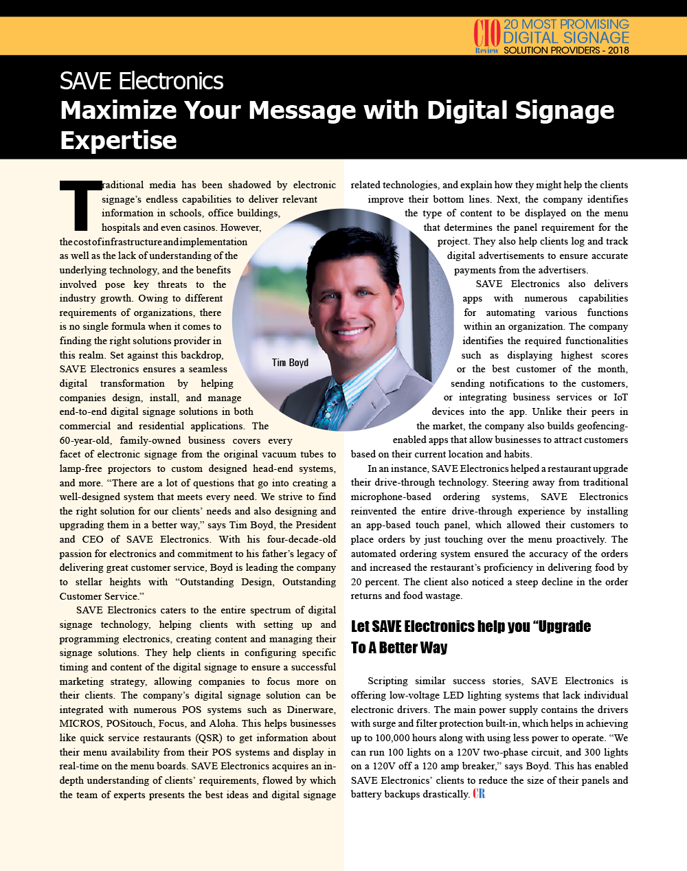 digital signage, cio review